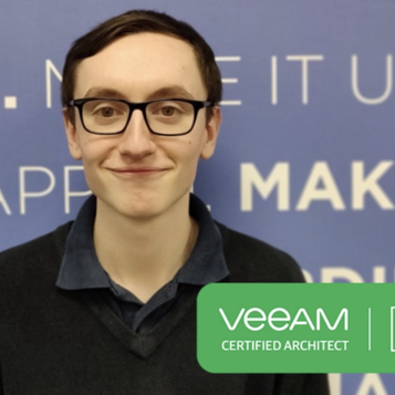 Congratulation Jamie Ridgeway on becoming a Veeam Certified Architect